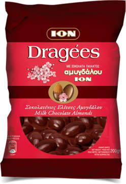 Dragees Milk chocolate almonds 200g - ايون اكياس لوز 200جم*10