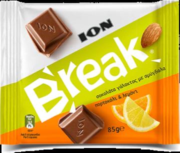 Break Dark with Almonds,Orange,Lemon Pieces 85g - شيكولاتة بريك بالبرتقال والليمون