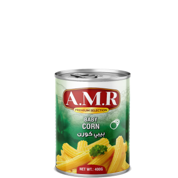 Canned Baby Corn AMR 400g - حبات ذرة بيبي كورن 400جم