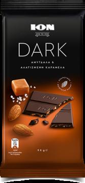 dark salty caramel 90g - ِشيكولاتة أيون دارك بالكراميل 90 جرام
