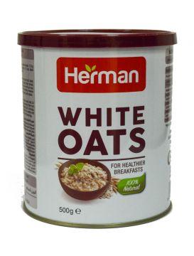 herman white oats  500g - هيرمان شوفان صفيح500جم×24