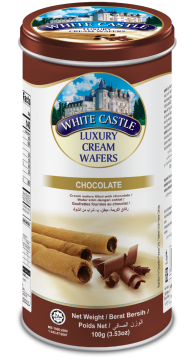 WHITE CASTLE LUXURY CREAM WAFERS VANILIA CHOCOLATE FLAVOUR 100g-تورتو ويفر100جم شيكولاته وايت كاسل  لوكسري