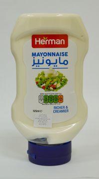herman mayo 525ml - هيرمان مايونيز بلاستيك 525مل