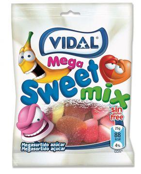 Vidal Mega Sweet Mix 100g -  فيدال جيلي ميجا سويت ميكس 100جم