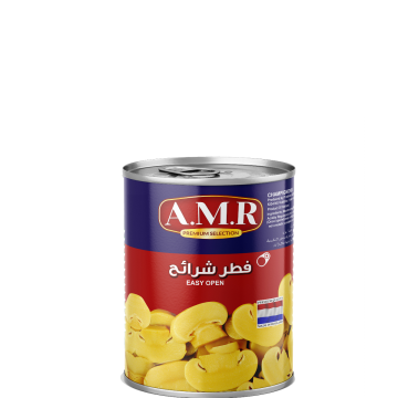 Canned Sliced Mushrooms AMR 400g - مشروم شرايح 400جم