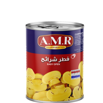 Canned Sliced Mushrooms AMR 850g - مشروم شرايح 850جم