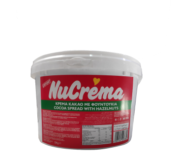 """NUCREMA IN PLASTIK 5k - نيو كريمة كريمة الكاكاو والبندق 5 كيلو جرام """" بلاستيك"""