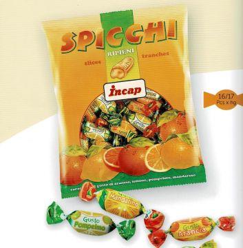 SPICCHI 300g- سكاكر بطعم البرتقال والليمون 300 جم
