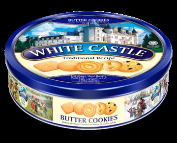 White Castle Luxury 908g- تورتو908جم وايت كاستل بالزبدة*6علبه صفيح