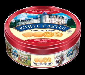 WHITE CASTLE BUTTER COOKIES (RED) 454g- تورتو 454جم وايت كاسل احمر بتر كوكيز*12علبه صفيح