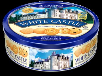WHITE CASTLE BUTTER COOKIES 681g - تورتو 681جم وايت كاسل بتر كوكيز*6علبه صفيح