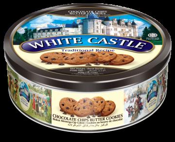 White Castle Chocolate Chips Butter Cookies 400g- وايت كاسل كوكيز بالشوكولاتة صفيح