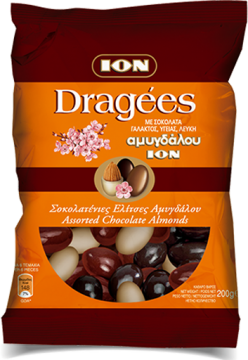 Dragees Assorted chocolate almonds 200g - ايون اكياس مشكله 200جم*10
