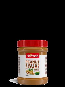 herman creamy peanut butter 340 g - هيرمان زبدة فول سوداني 340 جم
