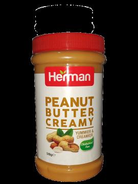 herman creamy peanut butter 510g - هيرمان زبدة فول سوداني 510جم
