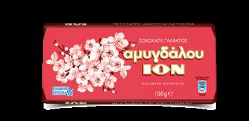ION ALMONDS CHOCOLATE  100g - شيكولاتة ايون باللوز 100 جرام