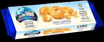 White Castle Snail Shape Butter Cookies160g- وايت كاسل بالزبدة