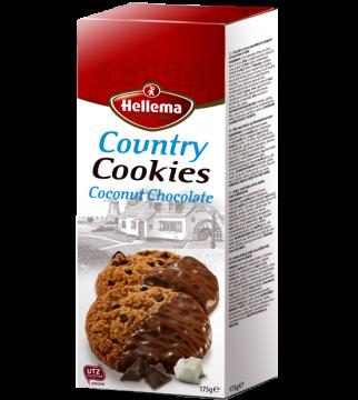 country cookies coconut with chocolate 175g -بسكويت هولندى كانترى  باكو جوز هند وشيكولاتة 175 جرام *12