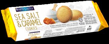 White Castle Sea Salt And Caramel Cookies140g- وايت كاسل مملح بالكراميل