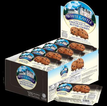 White Castle Chocolate Chips Cookies 40gx12 Packs - وايت كاسل بيتر كوكيز