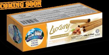 "White Castle Luxury Cream Wafers With Chocolate Hazelnut Flavoured ""Carton""100g- تورتو ويفر بالشيكولاتة والبندق"