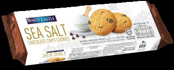 White Castle Sea Salt Chocolate Chips Cookies140g- وايت كاسل مملح بالشوكولاتة