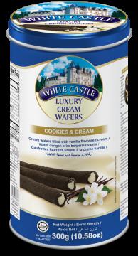 White Castle Luxury Cream Wafers With Cookies And Cream 300g- تورتو ويفر كريمة وكوكيز