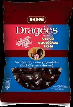 Dragees Dark chocolate almonds 200g - ايون اكياس لوز دارك200جم*10