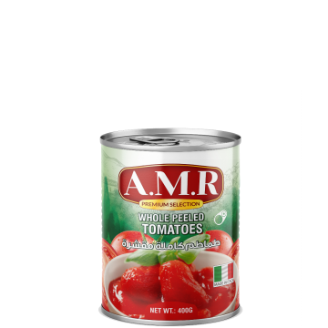 Canned Whole Peeled Tomatoes 400g AMR -  طماطم مقشرة