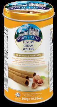 White Castle Luxury Cream Wafers With Chocolate Hazelnut Flavoured 300g- تورتو ويفر بالشيكولاتة والبندق