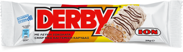 White  Derby with crisp rice and coconut filling 38g - ديربي شيكولاتة  بيضاءحشو كريمه جوزالهند38جم