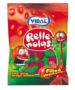Vidal Filled Strawberries 100g -  فيدال جيلي بالفراولة 100جم