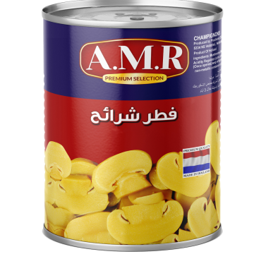 Canned Sliced Mushrooms AMR 2900g - مشروم شرايح 2900جم