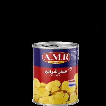 Canned Sliced Mushrooms AMR 400g - مشروم شرايح 400جم