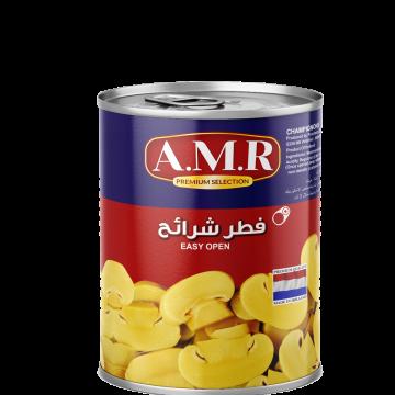 Canned Sliced Mushrooms AMR 850g - مشروم شرايح 850جم