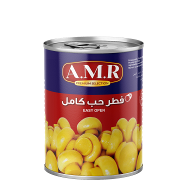 Canned Whole Mushrooms AMR 850g - مشروم حب كامل 850جم