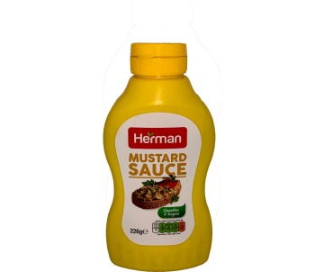 herman mustard sauce 226g - هيرمان ماسترد226جم ×12