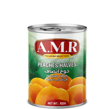 Canned Peach Halves 820g - خوخ أنصاف 820جم