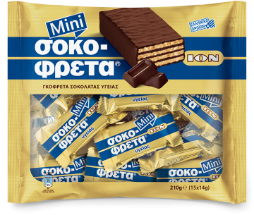 MINI CHOCOFRETA DARK CHOCOLATE WAFERS 210g - ايون ويفر210جم دارك
