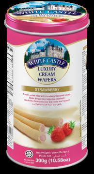 White Castle Luxury Cream Wafers With Strawberry Flavoured 300g- تورتو ويفر بكريمة الفراولة